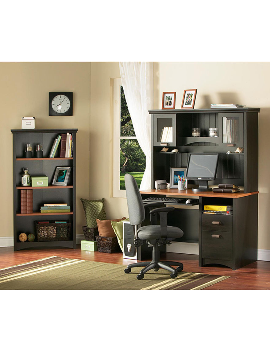 South Shore Ebony Bookcases & Shelves Living Room Furniture