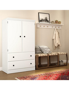 South Shore Pure White Cabinets & Cupboards Living Room Furniture