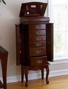 Southern Enterprises Mahogany Finish Jewelry Armoire