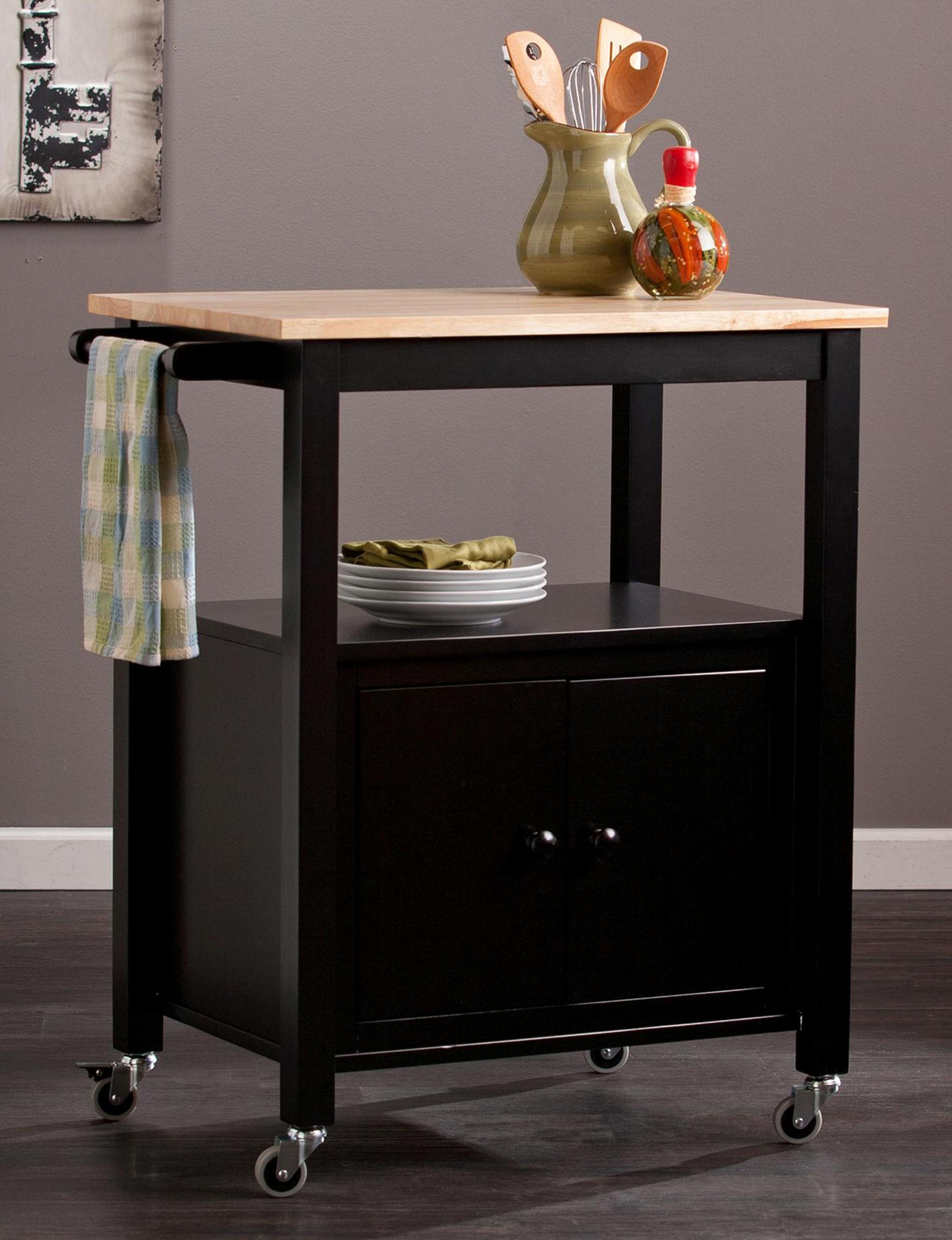 Southern Enterprises Black Kitchen Islands & Carts Kitchen & Dining Furniture