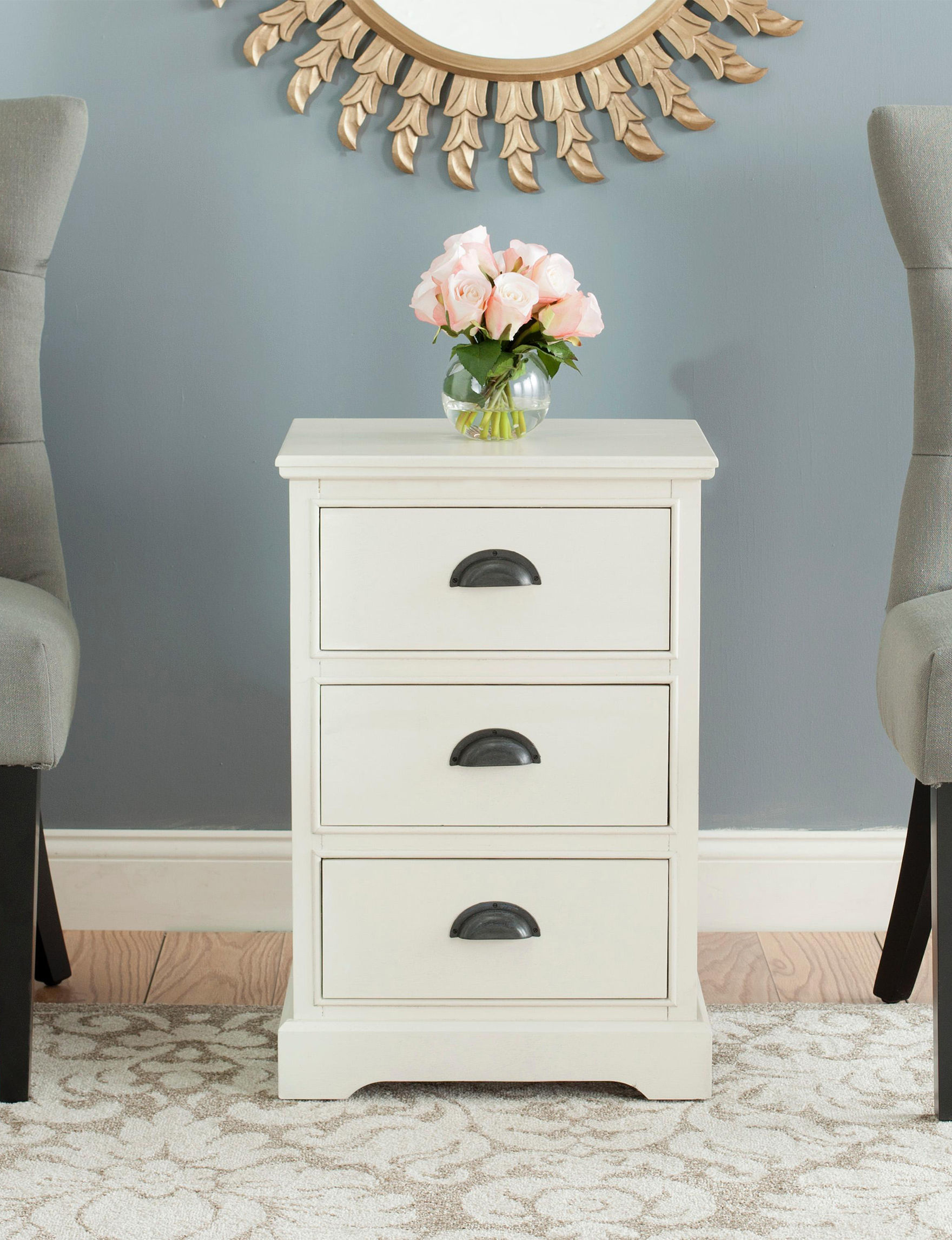 Safavieh White Accent & End Tables Living Room Furniture