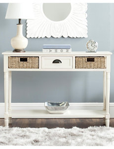 Safavieh Winifred Wicker Console Table With Storage