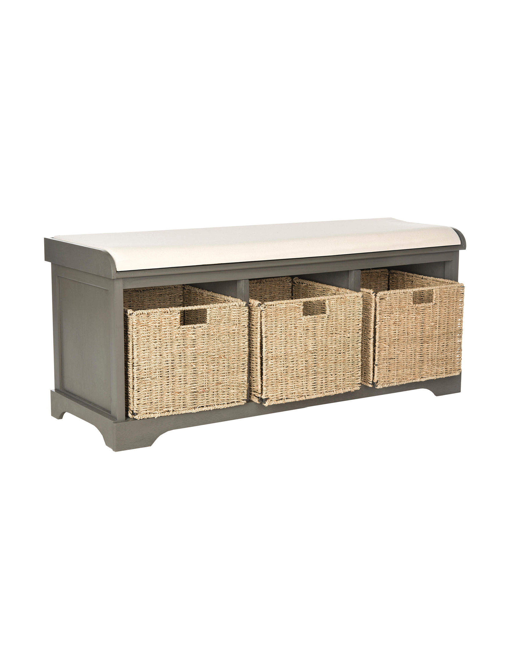 Safavieh Lonan Wicker Storage Bench Stage Stores
