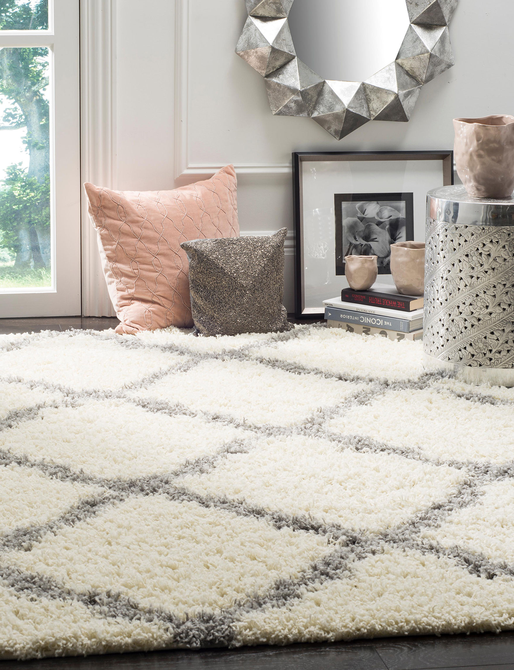 Safavieh Ivory / Grey Accent Rugs Area Rugs Runners Rugs