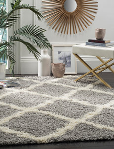 Safavieh Grey / Ivory Accent Rugs Area Rugs Runners Rugs