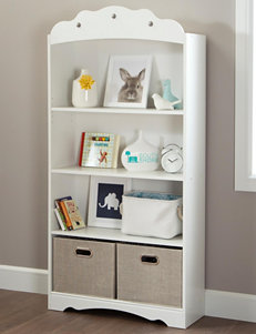 South Shore Pure White Bookcases & Shelves Home Office Furniture Living Room Furniture