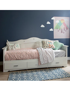 South Shore Pure White Beds & Headboards Bedroom Furniture