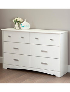 South Shore Pure White Dressers & Chests Bedroom Furniture