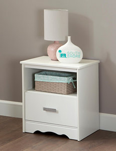 South Shore Pure White Night Stands Bedroom Furniture