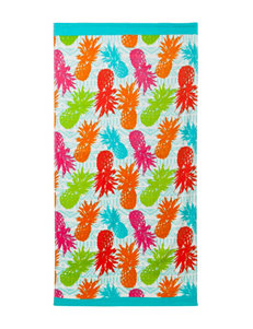 Multicolor Pineapple Print Beach Towel
