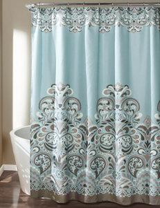 Lush Decor Blue Shower Curtains & Hooks