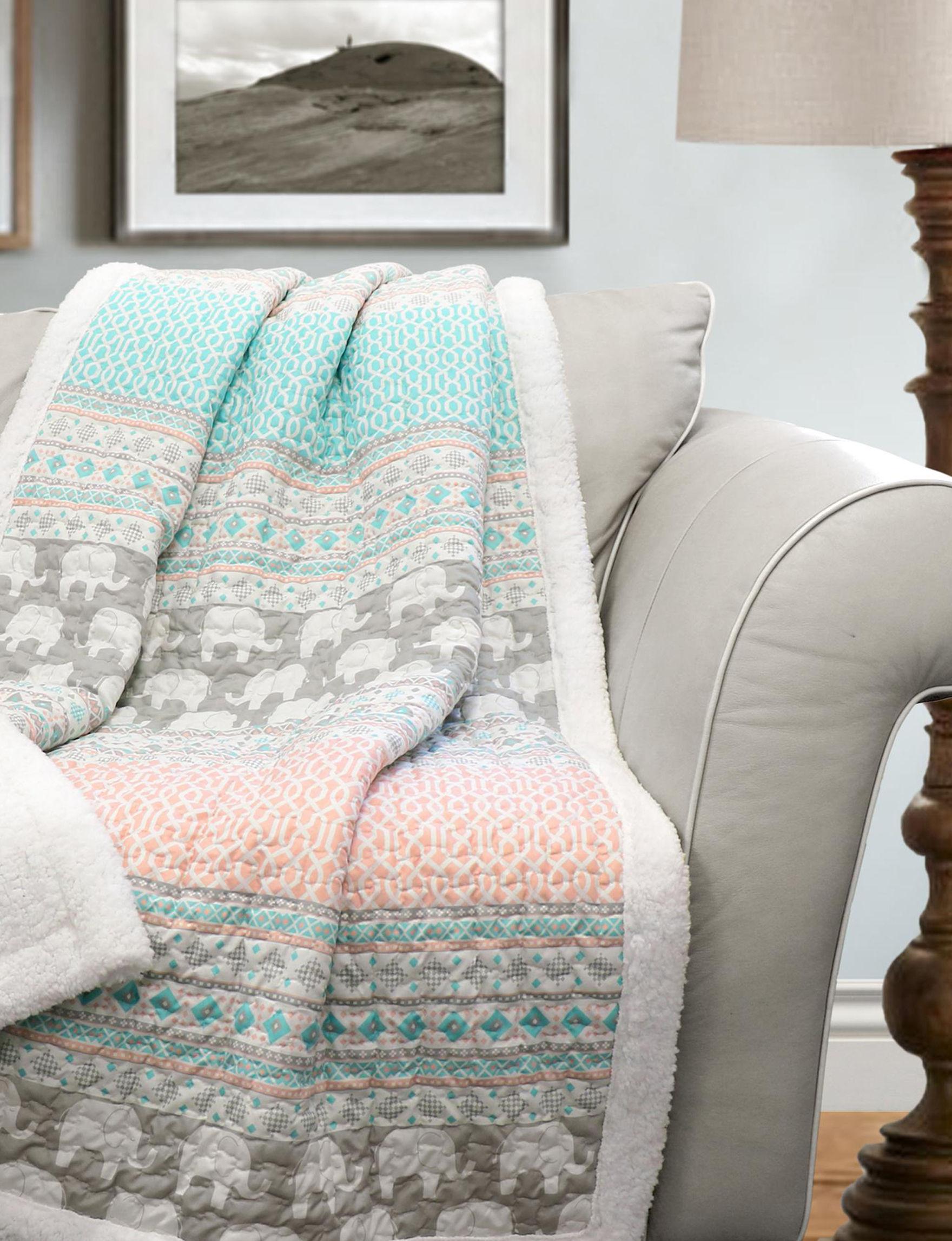 Lush Decor Pink / Blue Blankets & Throws