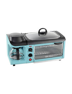Nostalgia Electrics Blue Coffee, Espresso & Tea Makers Electric Grills, Griddles & Waffle Makers Specialty Food Makers Toasters & Toaster Ovens Kitchen Appliances