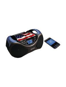 Akai Black CD Players & Boomboxes Home & Portable Audio