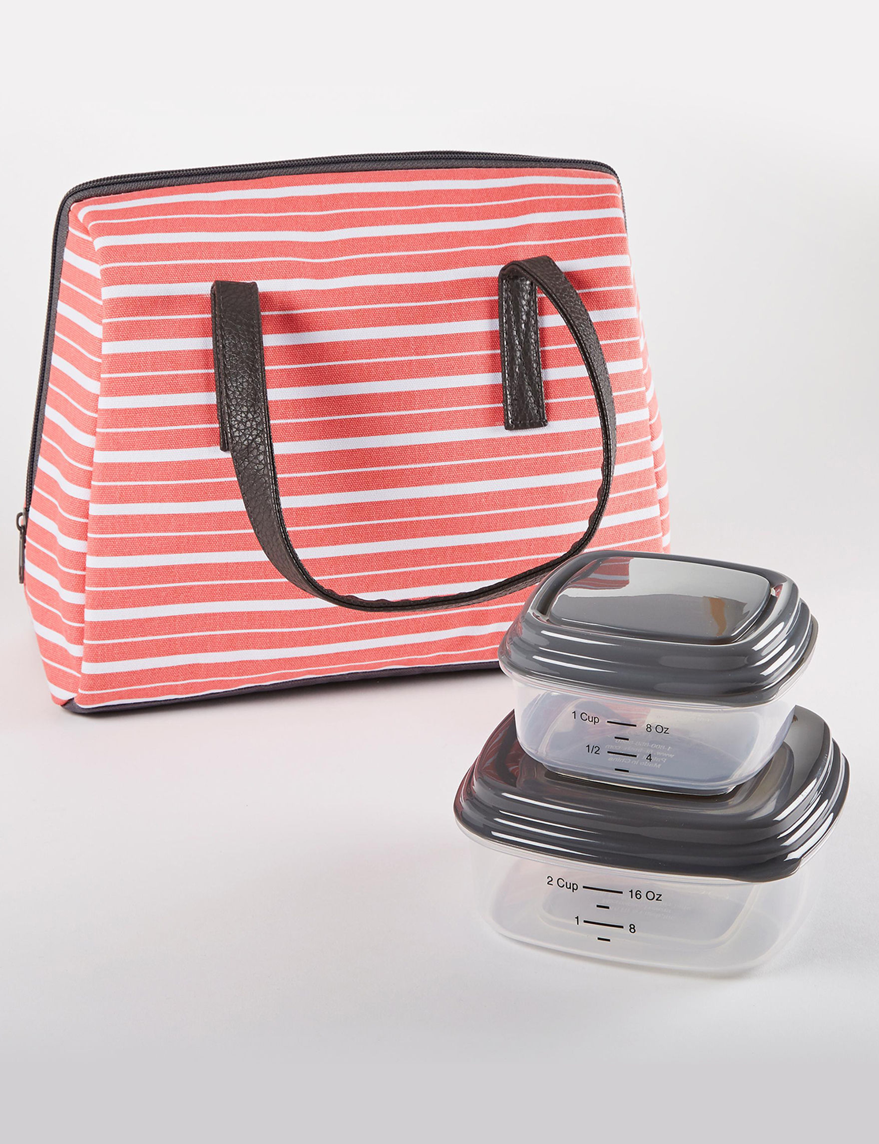Fit & Fresh Coral Multi Lunch Boxes & Bags Prep & Tools