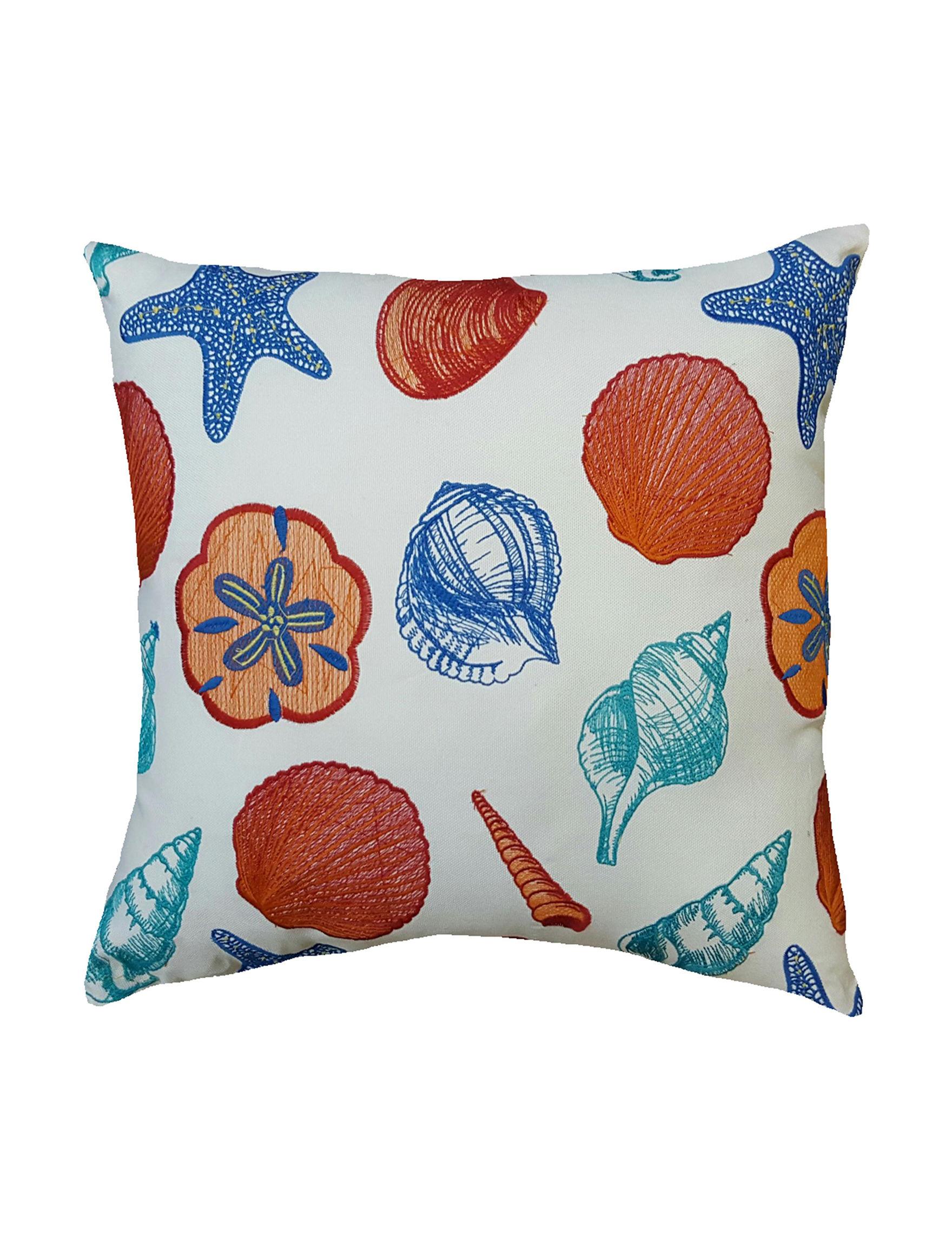 Home Fashions International Blue Multi Decorative Pillows Outdoor Decor