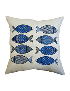 Home Fashions International Blue Decorative Pillows Outdoor Decor