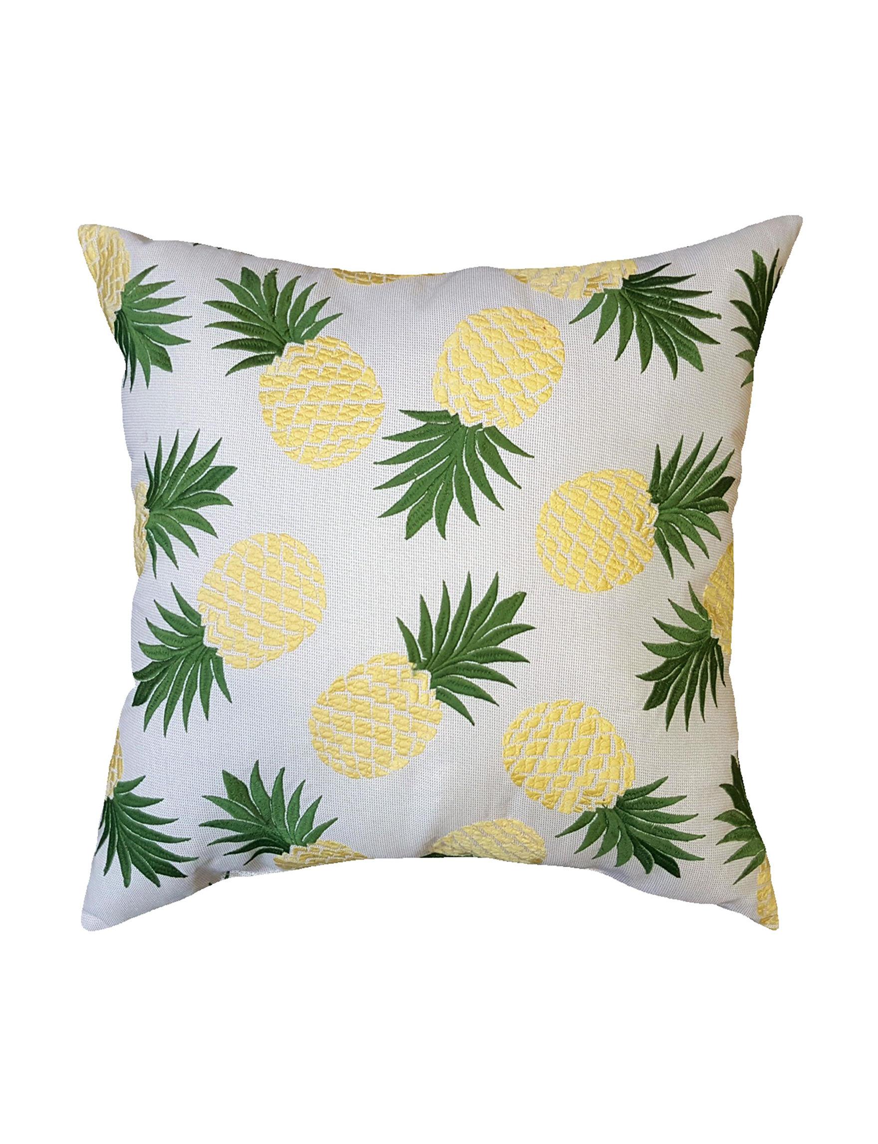 Home Fashions International Yellow Decorative Pillows Outdoor Decor