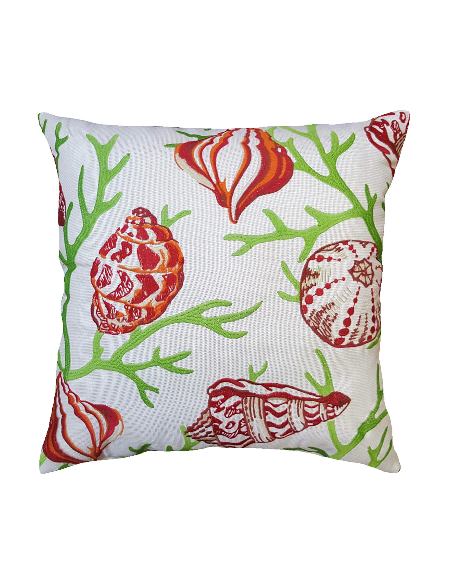 Home Fashions International Green Multi Decorative Pillows Outdoor Decor