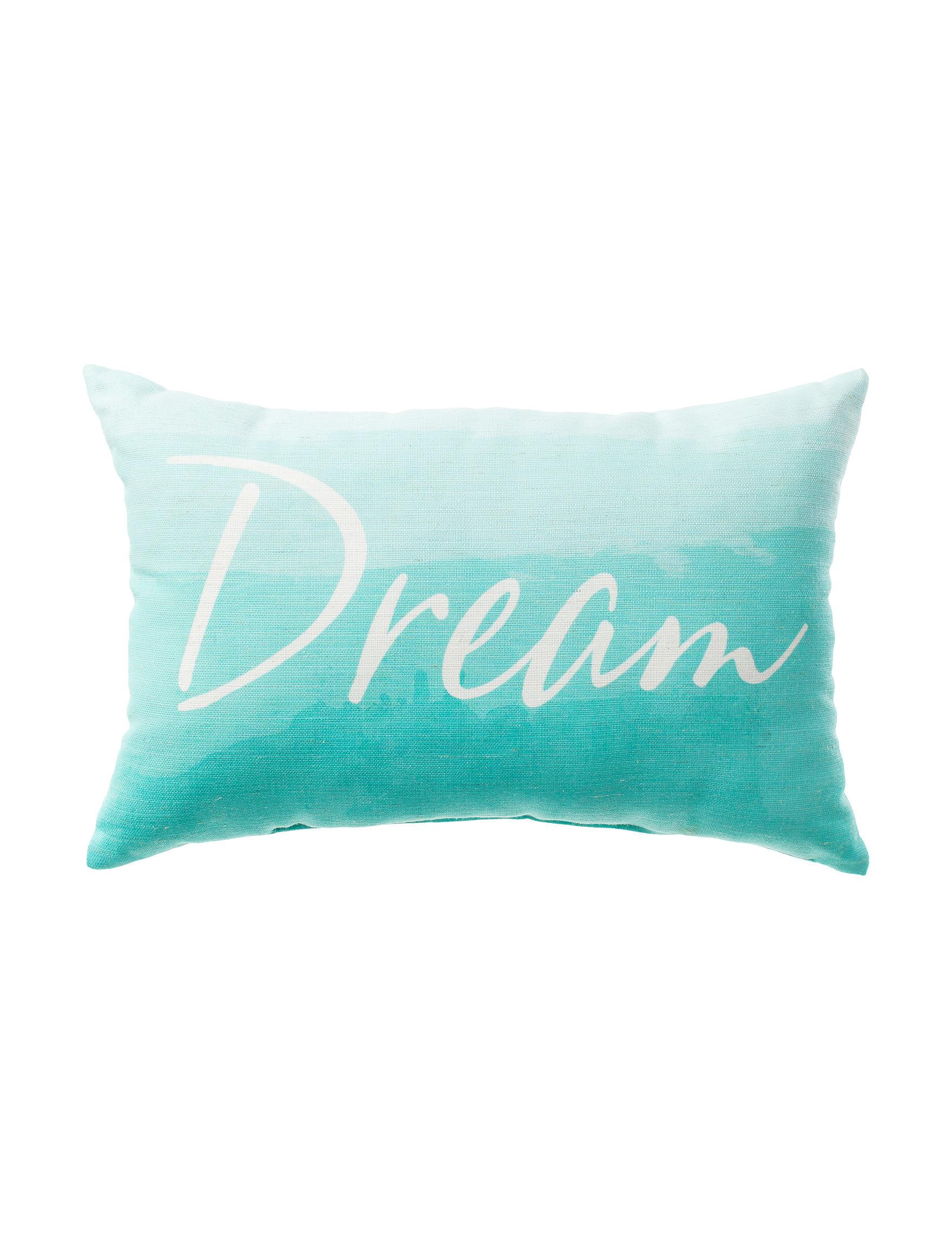 Home Fashions International Aqua Decorative Pillows