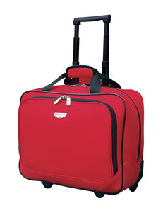 Travelers Club Luggage Red Briefcases