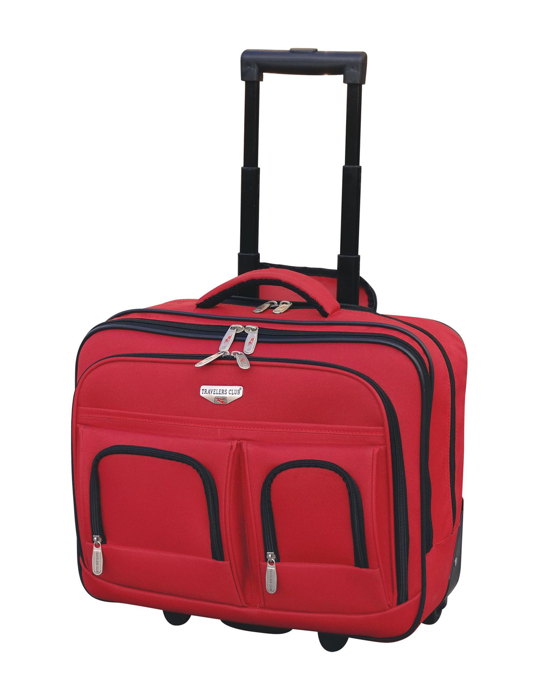 Travelers Club Luggage Red Briefcases Laptop & Messenger Bags
