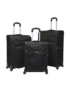 Travelers Club Luggage Black Luggage Sets
