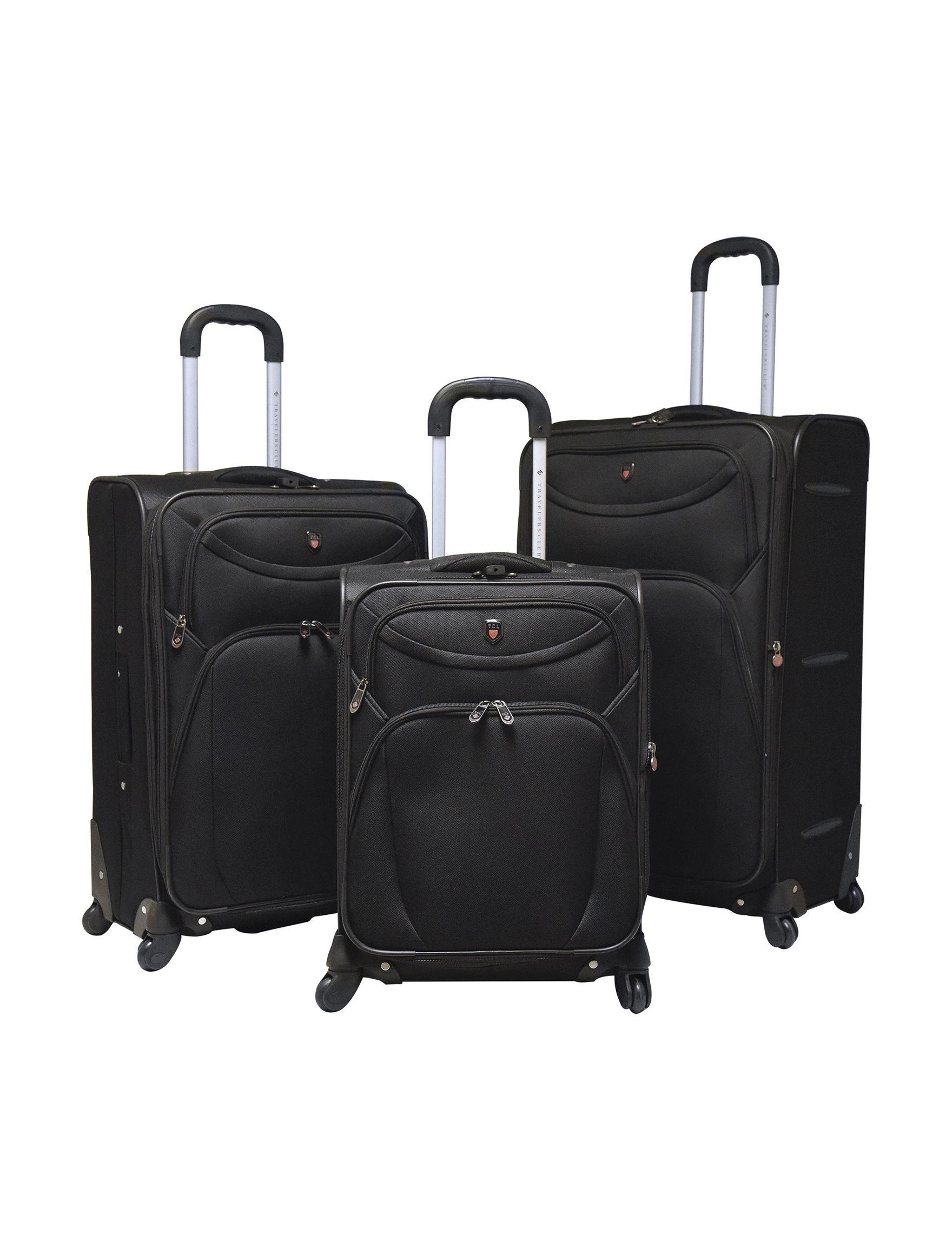 Travelers Club Luggage Black Luggage Sets