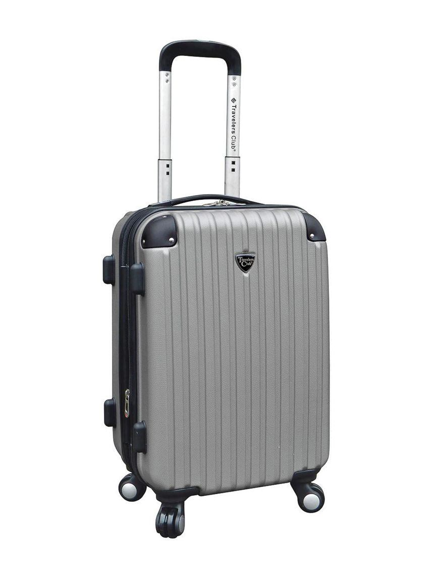 Travelers Club Luggage Silver Upright Spinners