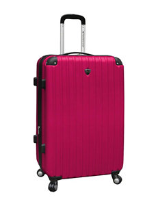 Travelers Club Luggage Pink Upright Spinners