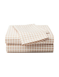 Great Hotels Collection Gingham Plaid Print Sheet Set