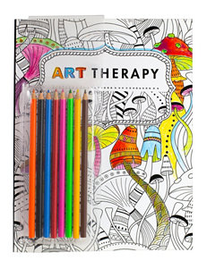 Tri Coastal 9-pc. Art Therapy Coloring Book & Pencils Set