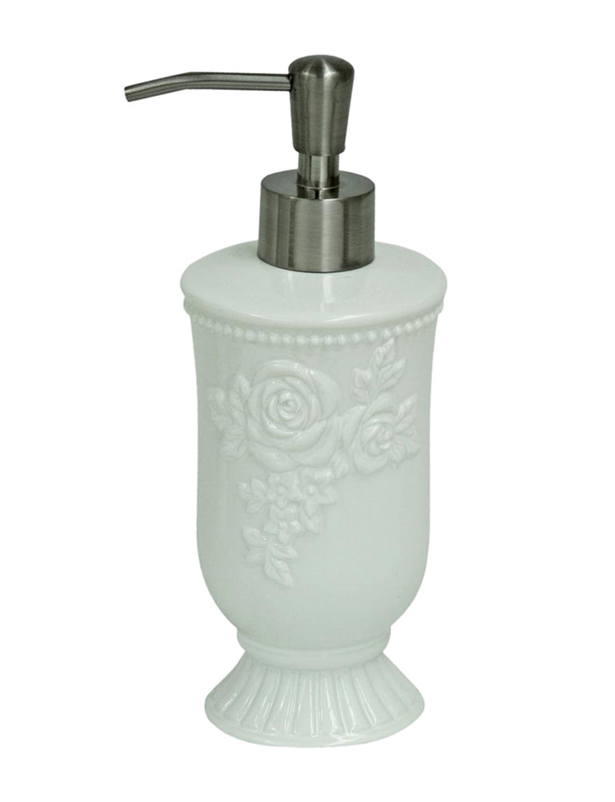 Jessica Simpson White Soap & Lotion Dispensers Bath Accessories