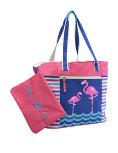 Life is a Beach Pink Outdoor Entertaining Travel Totes