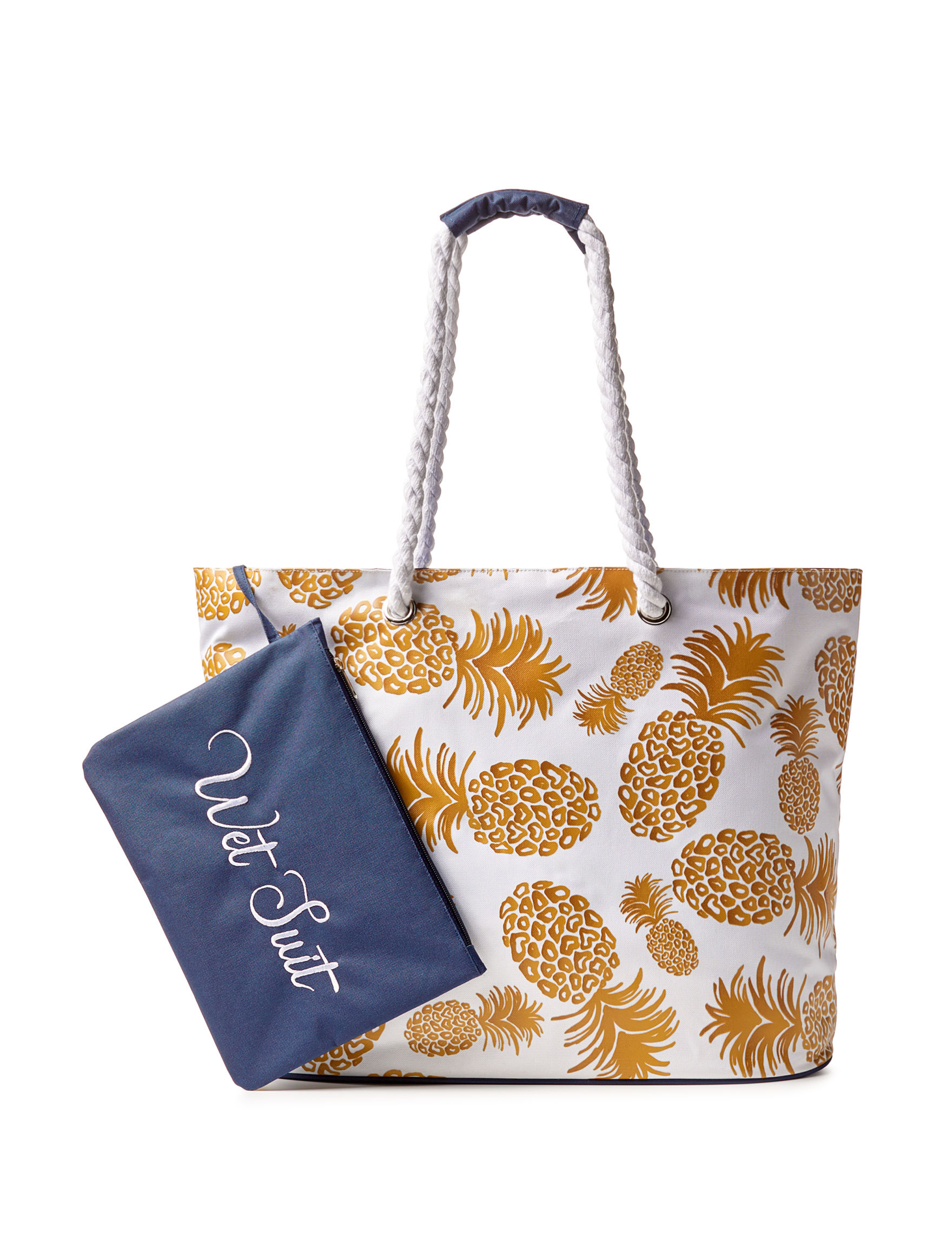 Life is a Beach Jumbo Pineapple Beach Tote | Stage Stores