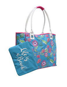 Life is a Beach Blue Outdoor Entertaining Travel Totes
