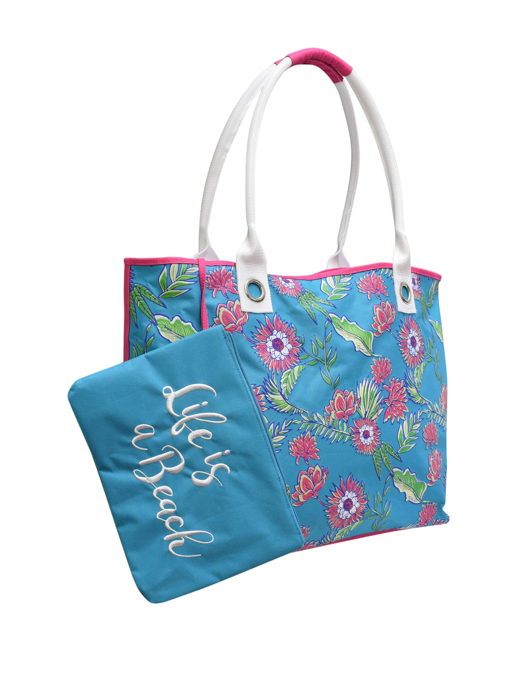 Life is a Beach Blue Outdoor Entertaining Weekend Bags