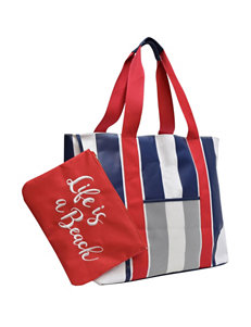 Life is a Beach Navy Camping & Outdoor Gear Outdoor Entertaining Travel Totes