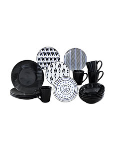 Baum Bros Imports Black / White Dinnerware Sets Dinnerware