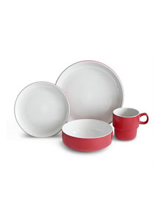 Baum Bros Imports Red Dinnerware Sets Dinnerware