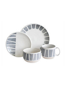 Baum Bros Imports White / Grey Dinnerware Sets Dinnerware