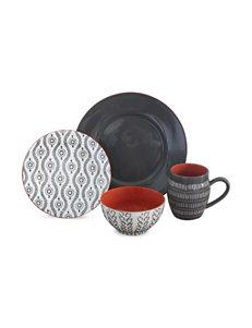 Baum Bros Imports Charcoal Dinnerware Sets Dinnerware