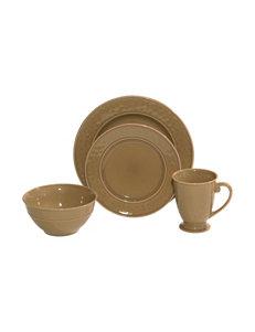 Baum Bros Imports Taupe Dinnerware Sets Dinnerware