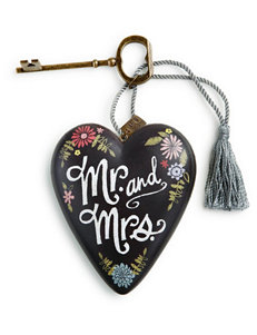 Demdaco Mr. and Mrs. Heart Ornament