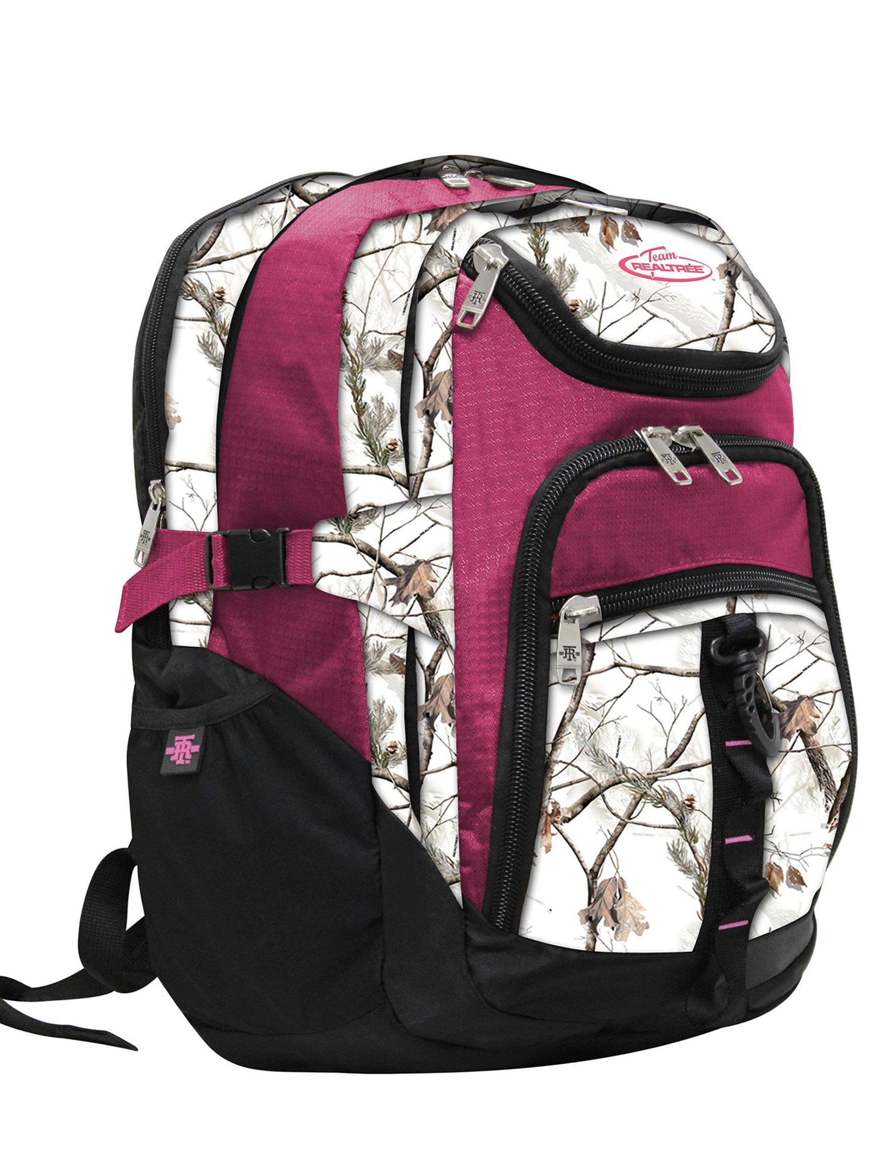 Realtree Raspberry Bookbags & Backpacks
