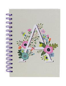 Tri Coastal Floral Monogram Stationary School & Office Supplies