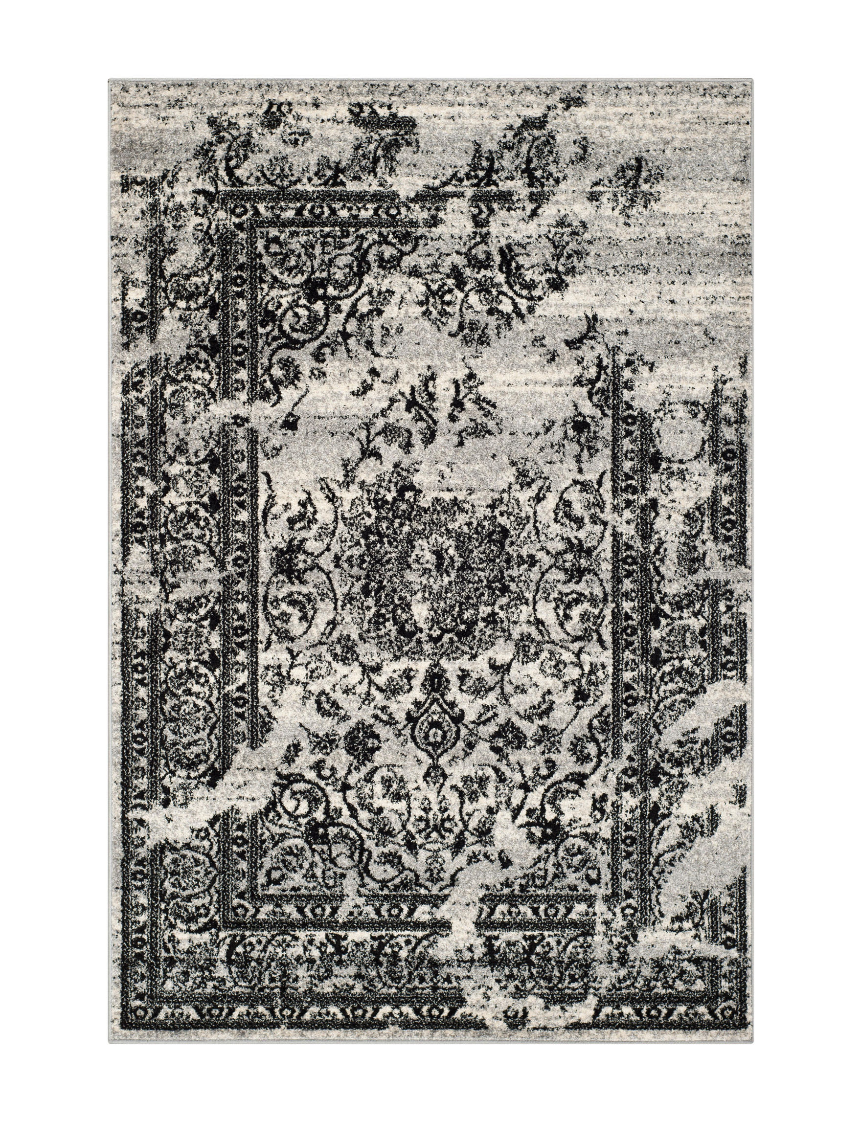 Safavieh Silver / Black Area Rugs Runners Rugs