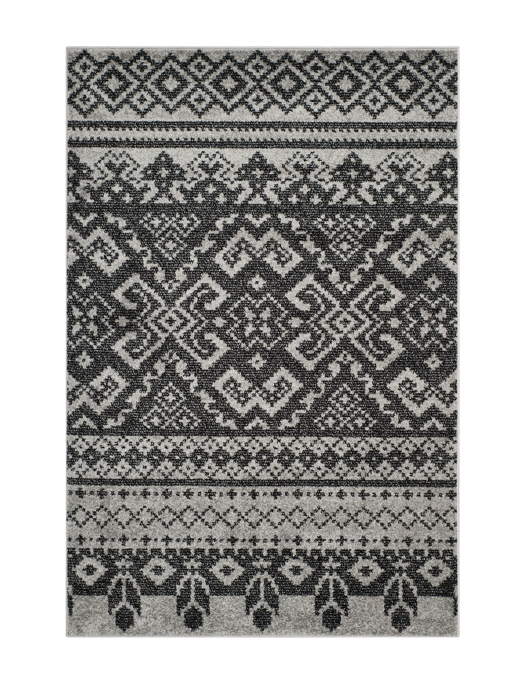 Safavieh Silver / Black Accent Rugs Area Rugs Runners Rugs