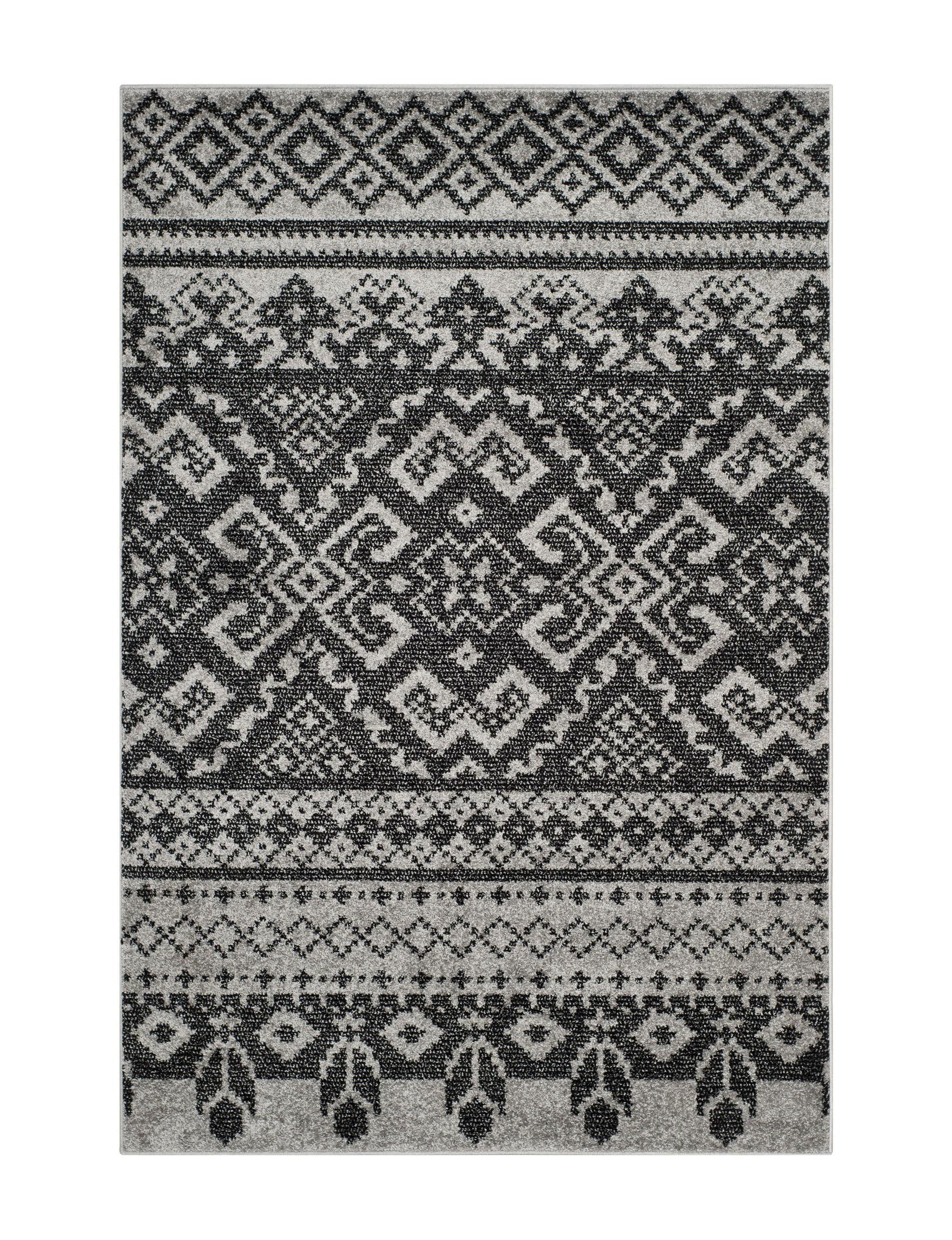 Safavieh Silver / Black Area Rugs Rugs