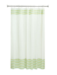 Bacova Guild White Shower Curtains & Hooks